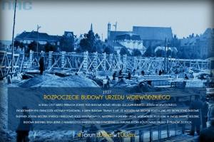 """Początek budowy toruńskiego Urzędu Wojewódzkiego [fot. fanpage """"Mateusz Schalau - człowiek z pasją""""]"""