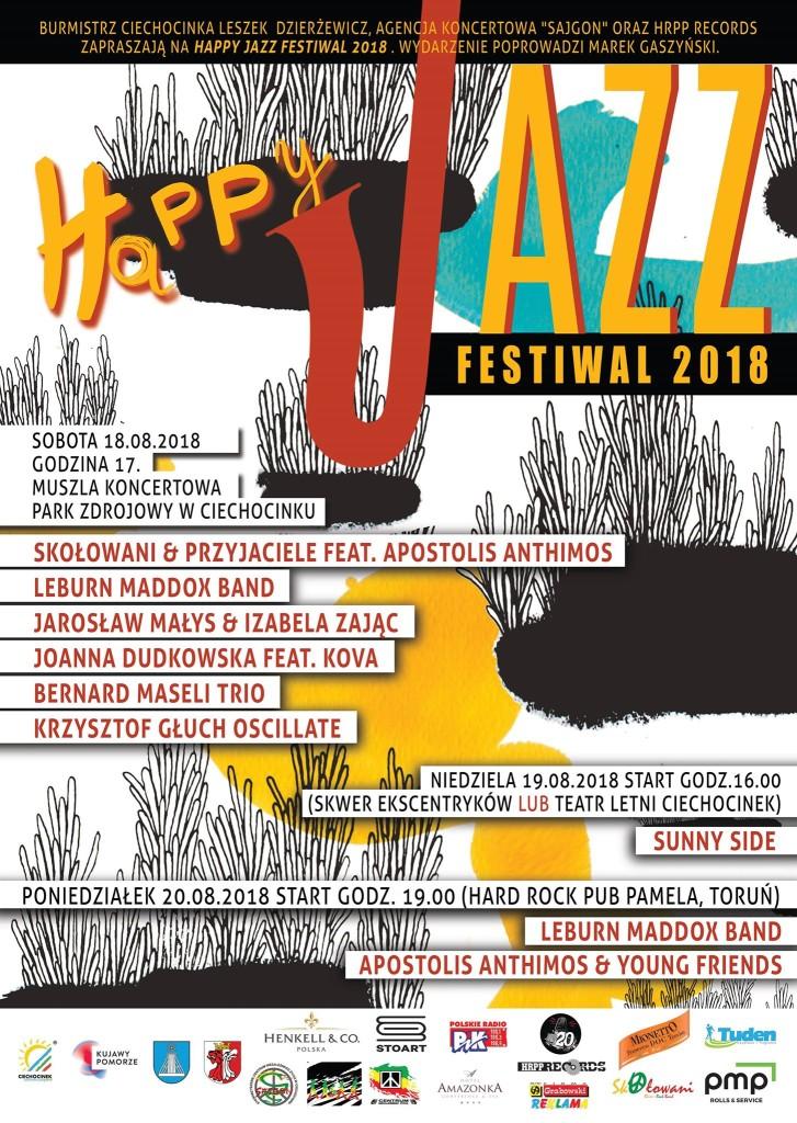 Plakat wydarzenia Happy Jazz Festiwal 2018 [fot. materiały organizatora]