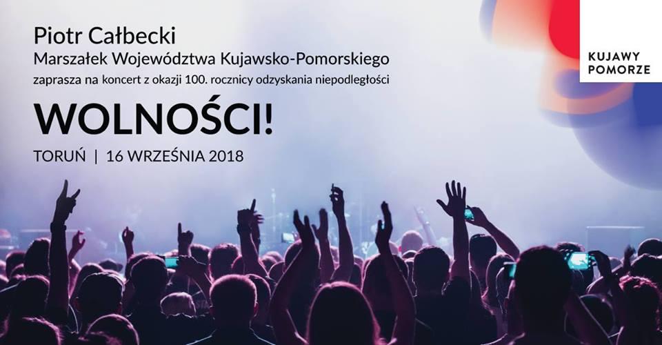 Plakat reklamujący koncert [fot. wydarzenie na Facebooku - Koncert: Wolności!]