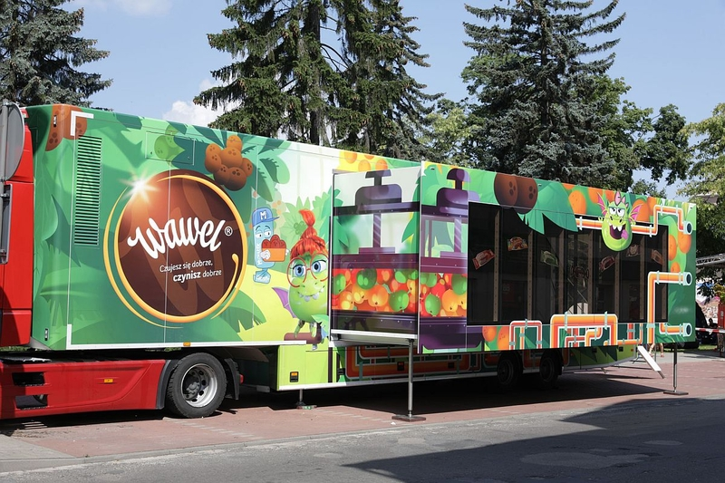 Interaktywna ciężarówka Wawel Truck na swojej objazdowej trasie, odwiedzi Toruń. [fot. materiały organizatora]