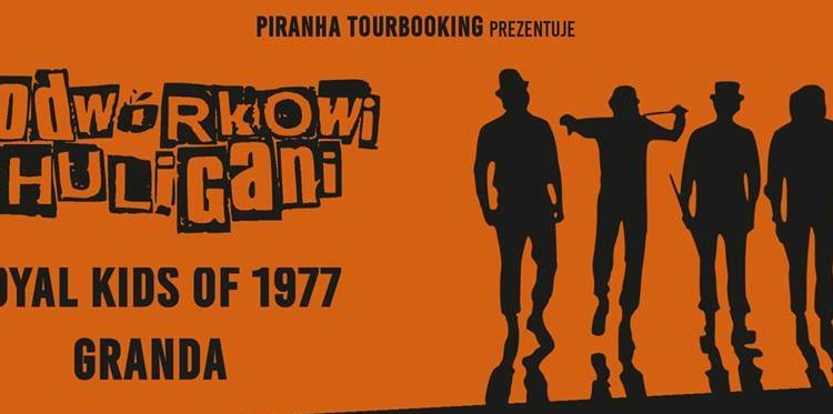 Podwórkowi Chuligani w Toruniu w towarzystwie Royal Kids of 1977 i Grandy [fot. wydarzenie na Facebooku - Podwórkowi Chuligani, Royal Kids of 77, Granda - Toruń / 2Światy]