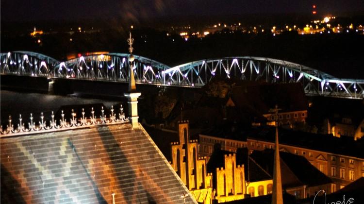 Toruń nocą [fot. Angelika Plich]