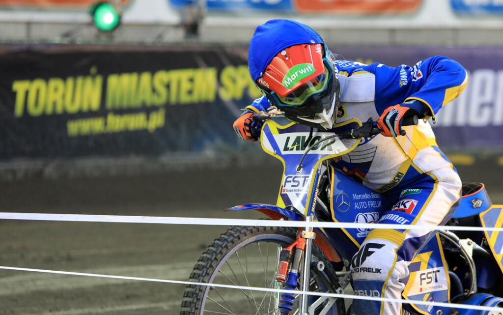 Adrian Miedziński podczas sobotniego meczu fot. www.torun.pl