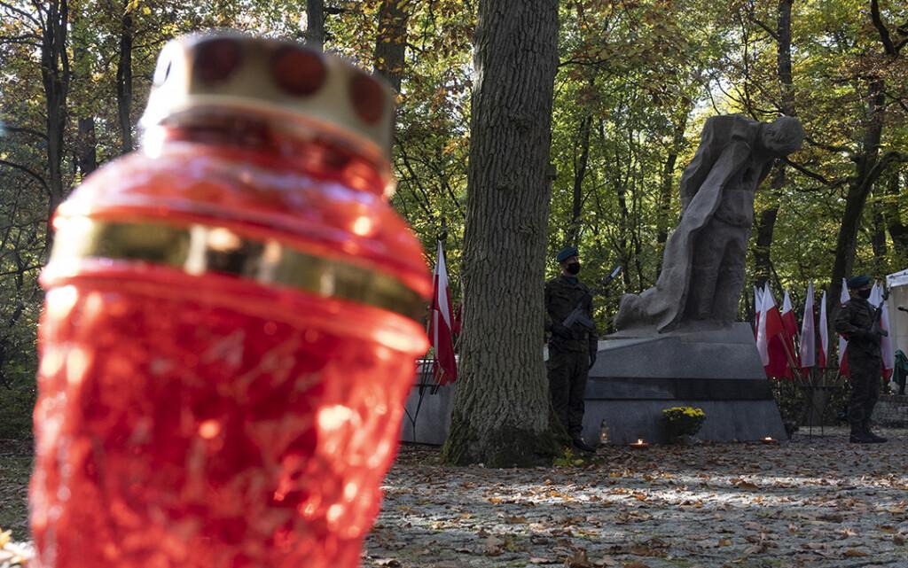 Pamięć o ofiarach zbrodni mimo pandemii jest wciąż aktualna (fot. Wojtek Szabelski/www.torun.pl)