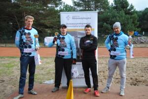 Podium kategorii amatorów, od lewej: Paweł Delimata, Mirosław Krogolewski, wyróżniony Franek Lingowski i Michał Affelt. fot. Fryderyka Wojciechowska
