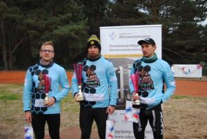 Podium wśród profesjonalistów, od lewej: Piotr Jamroszczyk, Dawid Bas i Marcin Szymański. fot. Bartosz Fryckowski