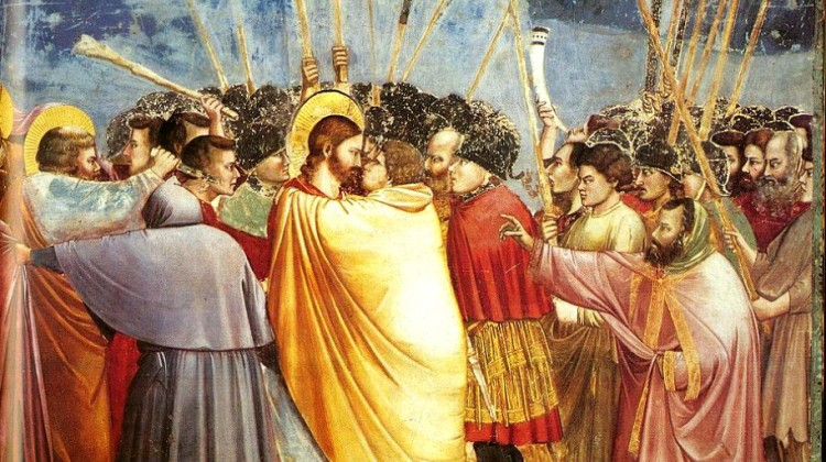 Wielkanoc-w-sztuce-Giotto-Pocałunek-Judasza