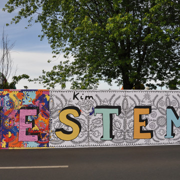 """mural """"JESTEM"""""""