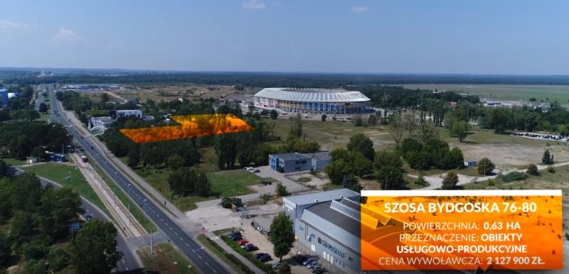 Miasto wystawiło na sprzedaż cztery działki położone przy Szosie Bydgoskiej [fot. torun.pl]