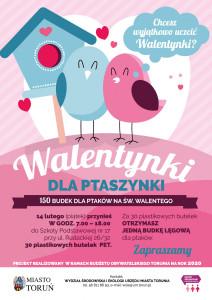 """Plakat projektu """"Walentynkowe budki lęgowe"""""""